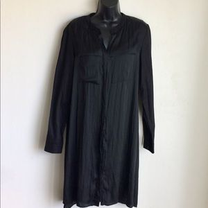 Kenneth Cole  Black Shirt Dress Size 14 EUC